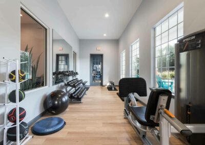Gym With Exercise Equipment at Cadence at Southern University